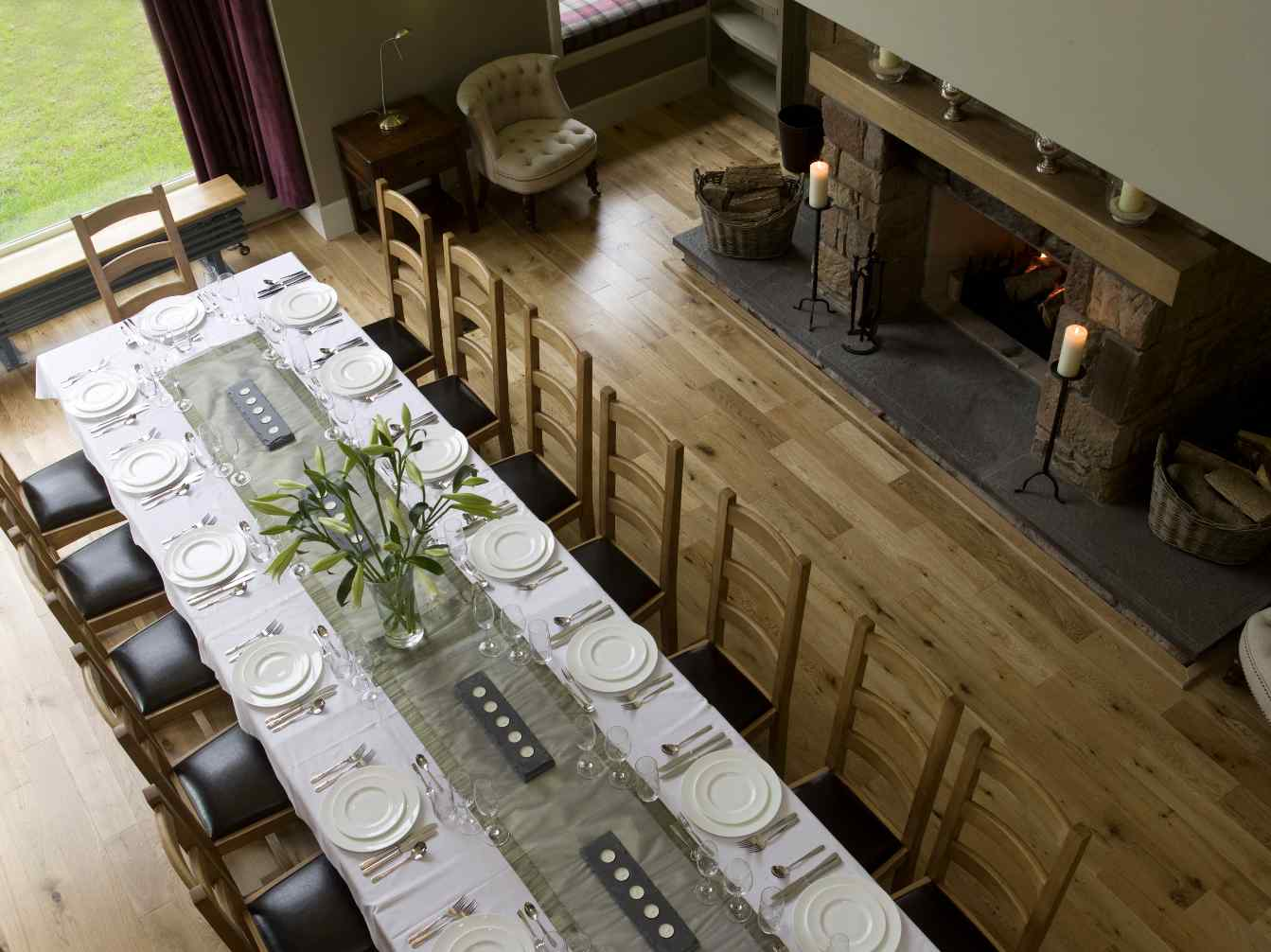 Dining hall viewed from the gallery