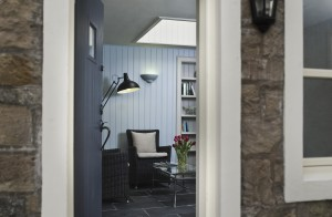 Wood panelled entrance hall - great for a relaxing read