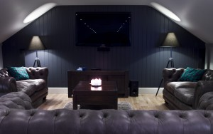 Media room for movies and sports